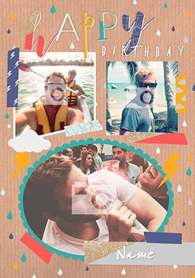 Birthday Boy Multi Photo Card