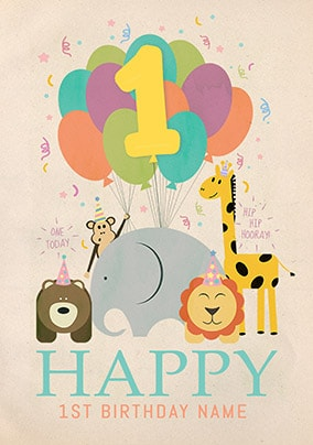 1st Birthday Cards - Make it Special | Funky Pigeon