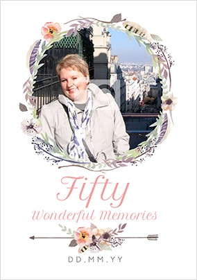 Fifty - Wonderful Memories Photo Card
