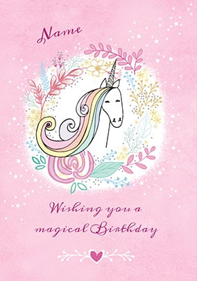 Magical Unicorn Personalised Birthday Card