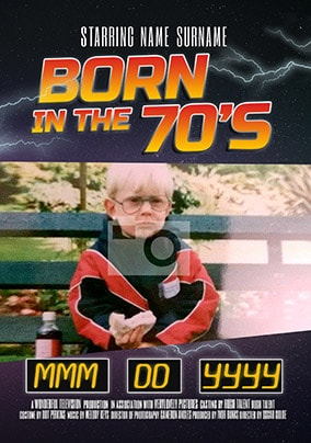 Born In The 70's Photo Card