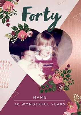 40 Wonderful Years Photo Card