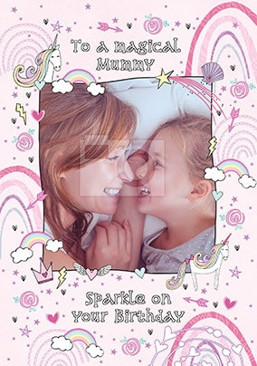 Magical Mummy Photo Birthday Card