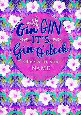 It's Gin O'Clock Personalised Card