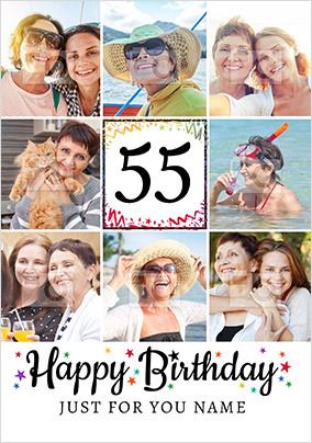 Happy 55th Birthday Photo Card