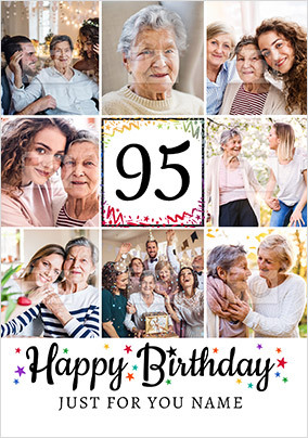 Happy 95th Birthday Photo Card