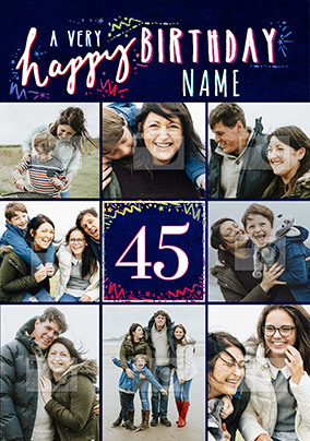 Happy 45th Birthday Photo Card