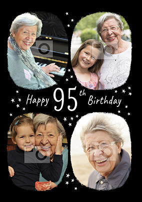 Happy 95th Birthday Multi Photo Card