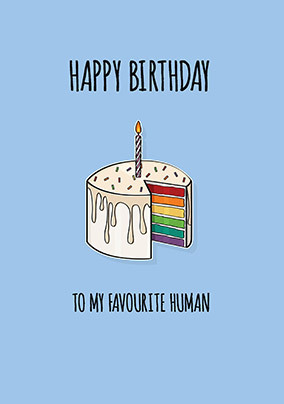 Happy Birthday to my Favourite Human Personalised Card