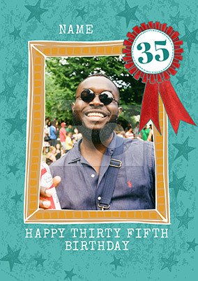 Happy Thirty Fifth Birthday Photo Card