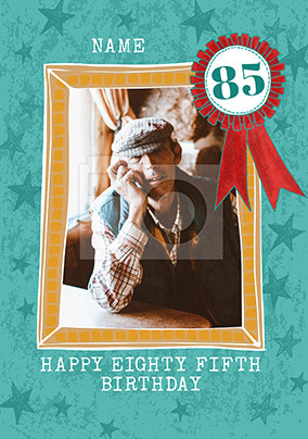 Happy Eighty Fifth Birthday Photo Card
