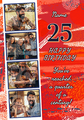 25 Today Birthday Photo Upload Card