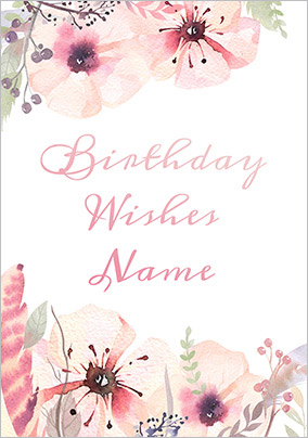 Botanique - Birthday Card Floral Birthday Wishes