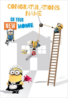 Congrats On Your New Home Minions Card