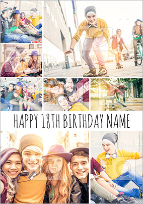 Photo Collage Birthday Cards