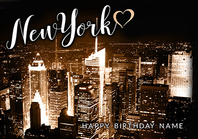 New York City Lights Greeting Card