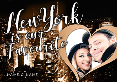 New York Is Our Favourite Photo Upload Card