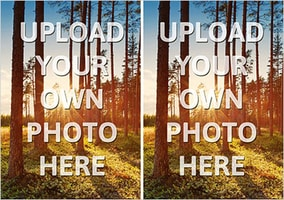 Double Photo Upload Landscape Card