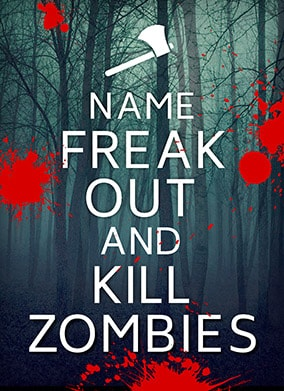 Freak Out and Kill Zombies Greeting Card