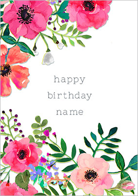 Flower Floral Birthday Cards