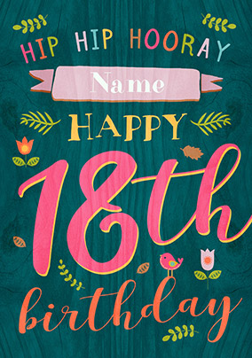 paper wood 16th birthday card female birthday wishes funky pigeon