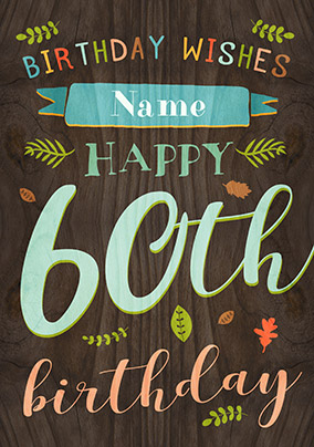 paper wood 60th birthday card male birthday wishes funky pigeon