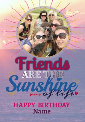 Rhapsody - Birthday Card Friends are the Sunshine of Life
