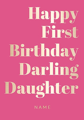 More Like This Shine Bright 1st Birthday Card Darling Daughter