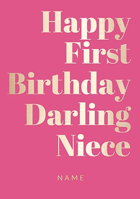 More Like This Shine Bright 1st Birthday Card Darling Niece