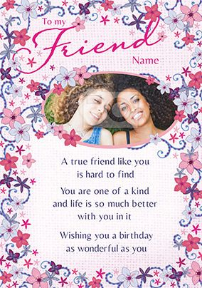 Amore - Birthday Card To a true Friend