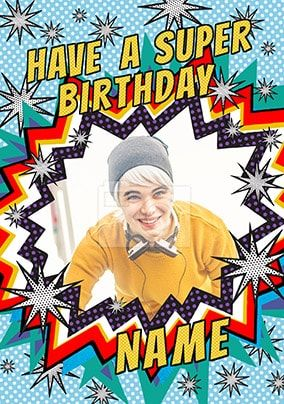 Have A Super Birthday Photo Card