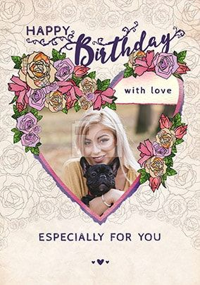 Especially For You Photo Birthday Card