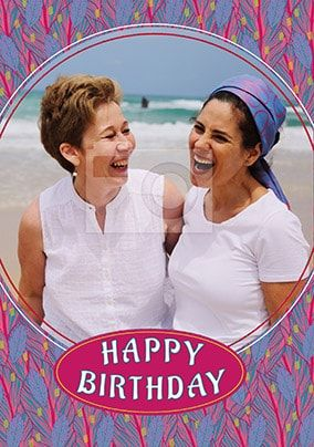 Happy Birthday Circle Photo Frame Card