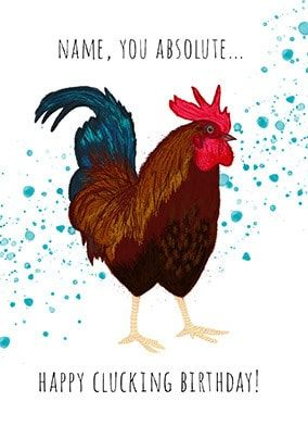Happy Clucking Birthday Personalised Card