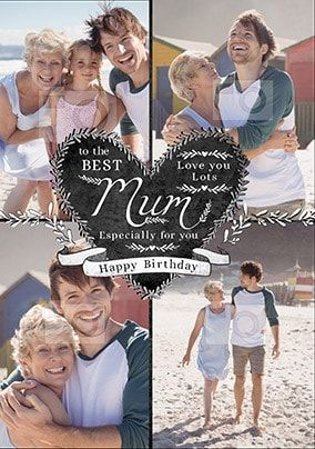 Best Mum Multi Photo Birthday Card