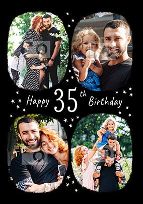 Happy 35th Birthday Multi Photo Card