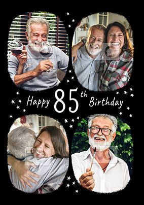 Happy 85th Birthday Multi Photo Card