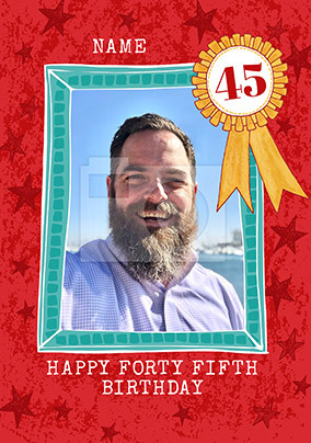 Happy Forty Fifth Birthday Photo Card