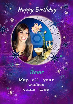 Cosmic Nightshade - Birthday Card May all your wishes come true