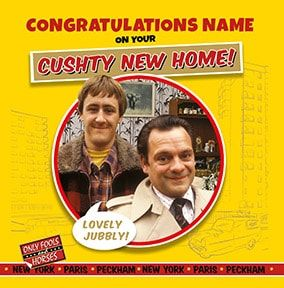 Cushty New Home Personalised Card