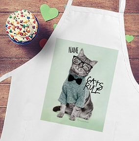 Cats Rule Personalised Apron - Rachael Hale