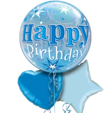 Blue Birthday Bubble Balloon