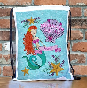1f00cd7d53 Mermaid Squad Personalised Gym Bag