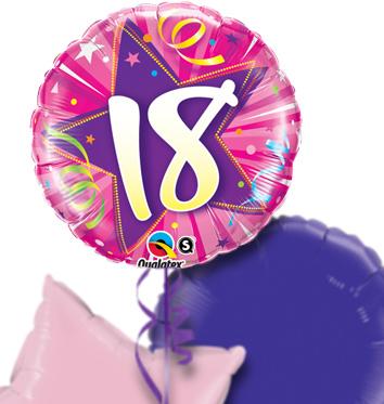 Pink 18th Birthday Balloon Bouquet