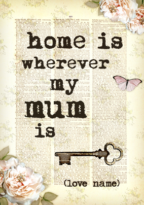 Bookish Type - Home is where Mum is Card