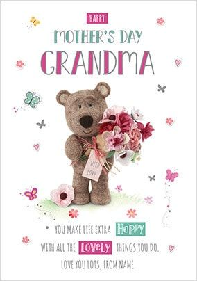 Barley Bear - Grandma Personalised Card
