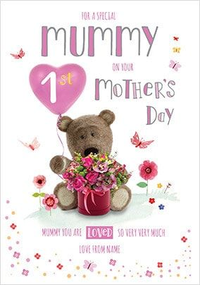 Barley Bear - Mummy 1st Mother's Day Personalised Card