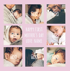 1st Mother's Day multi photo upload Card