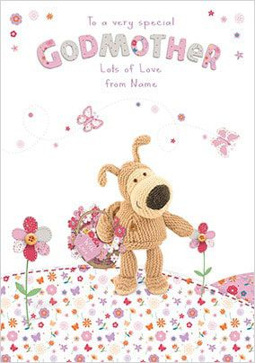 Boofle Godmother Card - Flowery Design