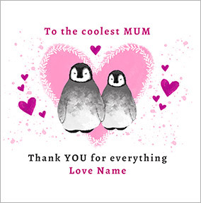 Coolest Mum Personalised Mother's Day Card